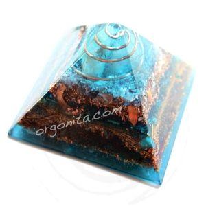 Piramide de orgonite con Cuarzos Rosa y Blanco - ORGON: ORGONITE personalizado - ORGONITA personalizada - Orgonites - Orgonitas