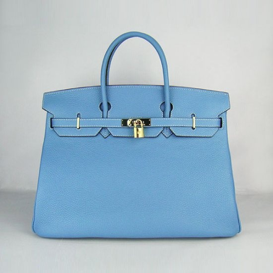 Hermes Bags And Handbags Light Blue Gold 342