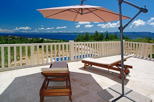 Sunbathing with a view @ House for rent Villa Oliva 2 - Bol - Island of Brač - Croatia - Adria Tours Bol