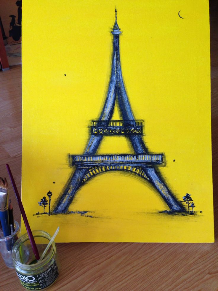 I painted eiffel tower Canvas painting