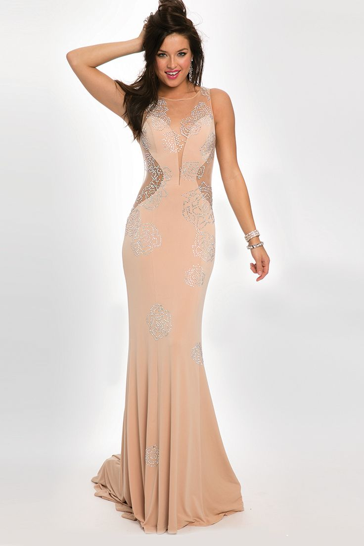 13 best prom images on pinterest prom dresses ball gown dresses jovani prom 22767 radiant sleeveless long gown features a sheer neckline and an open back ombrellifo Images