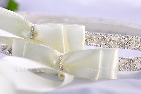 Swarovski Crystal and Silver Plated Stefana, $156.00 at the Greek Wedding Shop ~ http://www.greekweddingshop.com/