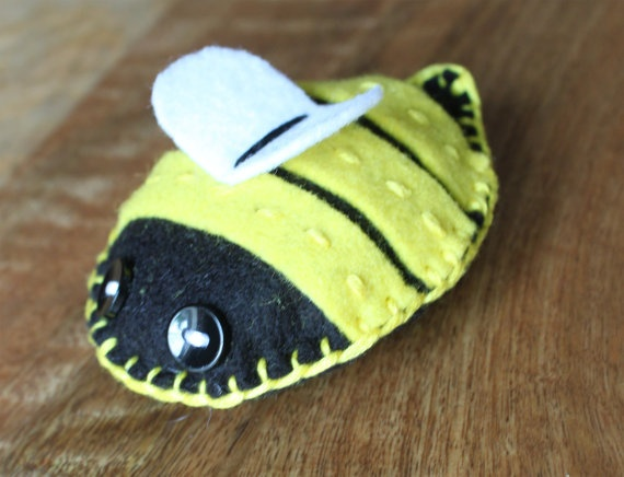 Meet Barry He Is For A Gorgeous Handmade Bumblebee Can Be Small Decorative Toy Or The Ideal Size PincushionLovingly Made With Felt