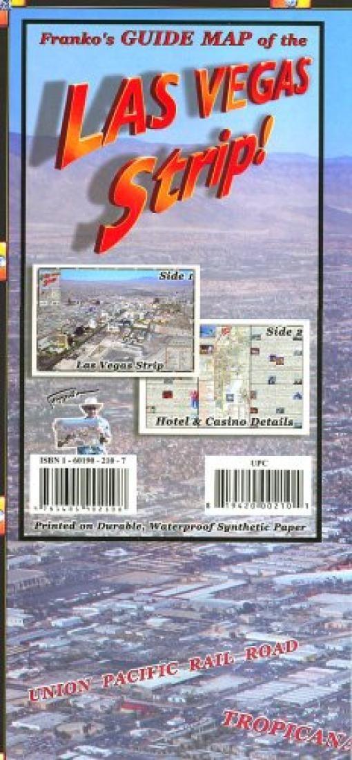 Las Vegas Strip, Laminated Map by Frankos Maps Ltd.