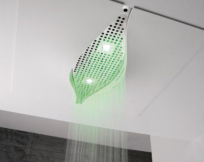 """L'idea ispiratrice è stata il movimento naturale dell'acqua cercando di catturare le forme plastiche dell'acqua che cade liberamente non costretta in percorsi artificiali e guidati come i """"tubi"""". Da questa immagine è scaturita quella di una sorgente che sgorga dalla volta di una grotta... Natura vergine...#Virgin www.gasparinionline.it @zazzeri #doccia #shower #design #interiors #inspire #bagno #arredamento #casa"""