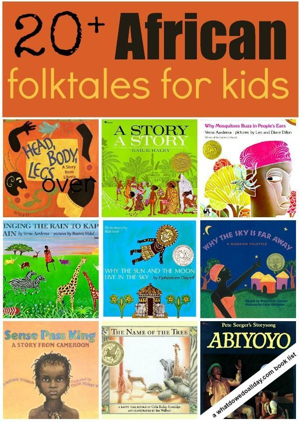A list of over 20 picture books featuring retelling of African folktales for kid from What Do We Do All Day?