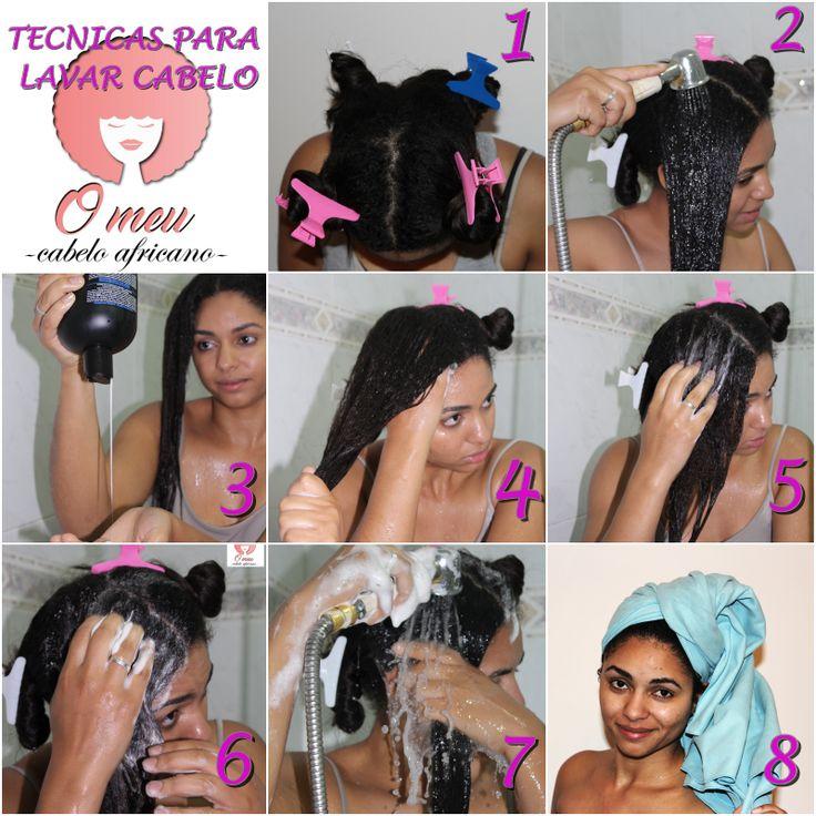 Como lavar o cabelo africano. Cabelo desfrisado. Wash day. Relaxed hair
