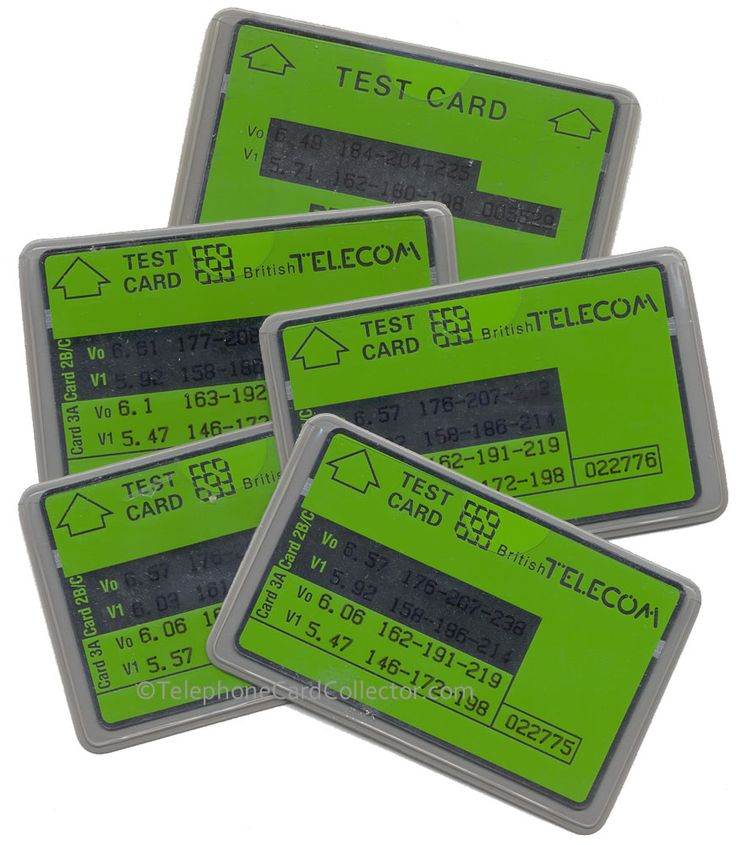 Selection of British Telecom Test Cards