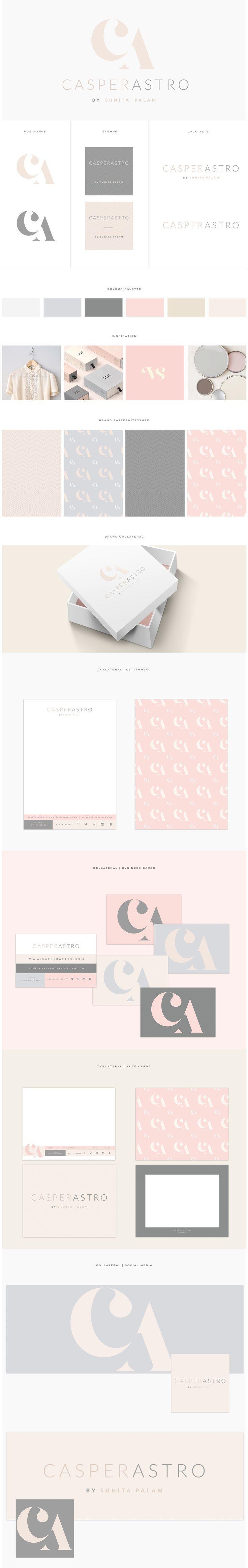 www.brandmebeautiful.co.uk | enquiries@brandmebeautiful.co.uk | Casperastro Brand Design #branding #branddesign #brand #logo #inspiration #colour #blush #nude #cream #pink #grey #charcoal #minimalist #monogram