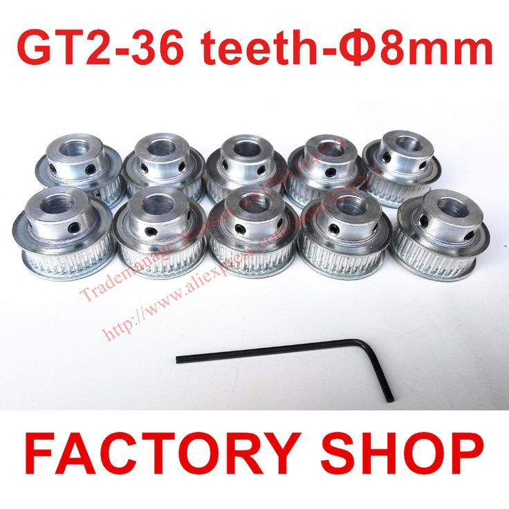 Wholesale 10pcs 36 teeth Bore 8mm GT2 Timing Pulley fit width 6mm of 2GT Belt 3D Free shipping #men, #hats, #watches, #belts, #fashion