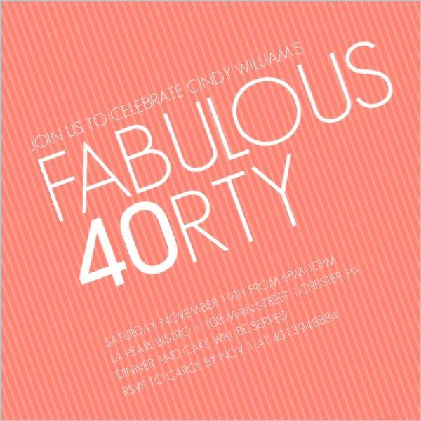 best 25+ 40th birthday sayings ideas on pinterest | 40th birthday, Birthday invitations
