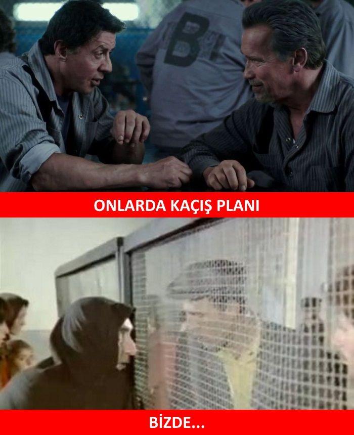 ONLARDA KAÇIŞ PLANI   BİZDE...  #karikatür #mizah #matrak #komik #espri #şaka #gırgır #komiksözler #caps