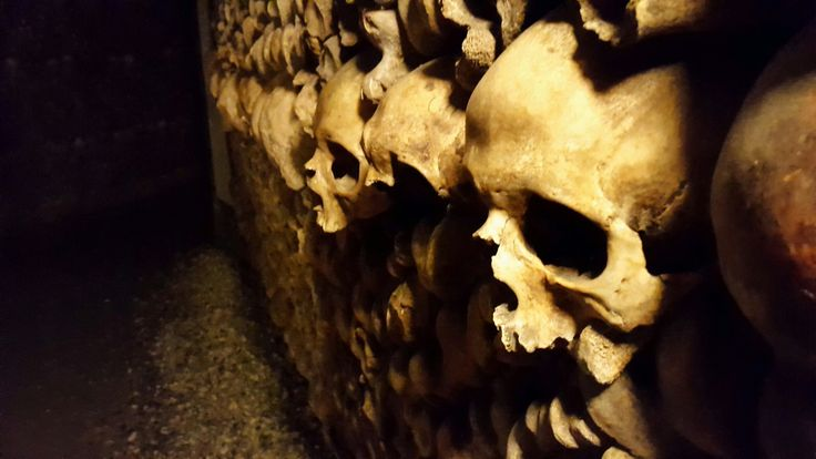 Catacombs of Paris, France.
