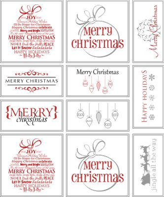 I found some great classy Christmas gift tags over at Belvedere Designs! Click here to download the free gift tags...