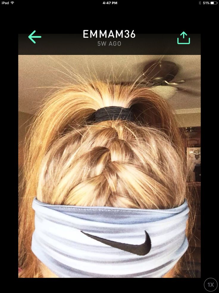 This is a great hairstyle for lacrosse