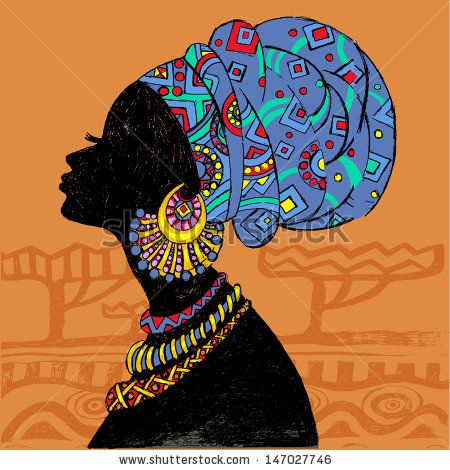 african woman head silhouette - Google Search