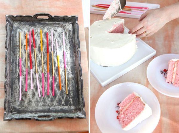 Super Long Taper Candles DIY: Long Candles, Diy Candles, Long Birthday, Birthday Candles, Colorblock Candles, Cakes Th, Candles Diy, Taper Candles, Cakes White