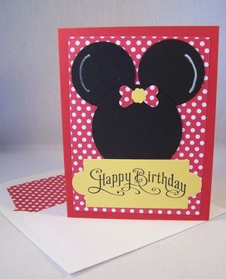 Minnie Mouse Punch Art Card, Birthday Card, Stampin' Up!  www.stampingcountry.com