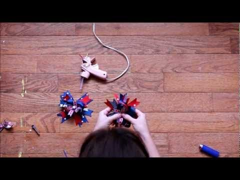 Layered Patriotic Hair Bow video tutorial