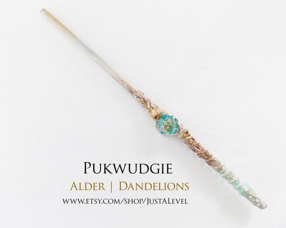 Spring Goddess Harry Potter Inspired Wand Pukwudgie by JustALevel