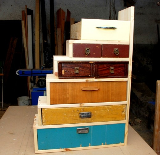 Delightful Make A Little Drawer Cabinet From Old Drawers   This Could Help Solve No  Drawers