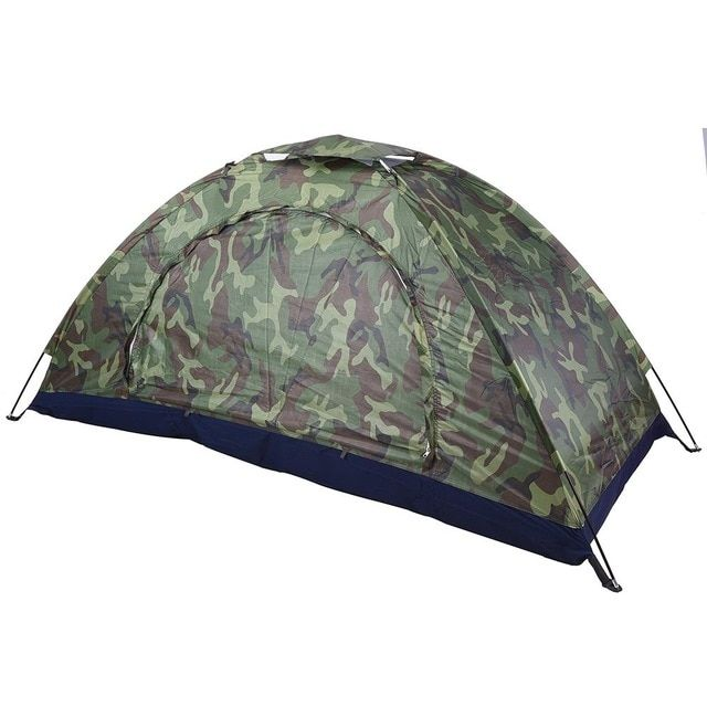 Dilwe Camping Tent Outdoor Camouflage UV Protection Waterproof 2 PersonsTent for Camping Hiking Backpacking