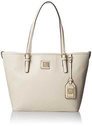 BUY NOW Anne Klein Perfect Medium Tote Handbag, Vanilla Bean, One Size Product Dimensions:?15.7 x 11.3 x 5.3 inches; 1.4 pounds More