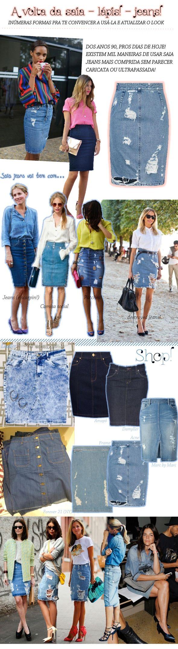 A saia – lápis – jeans da discórdia!