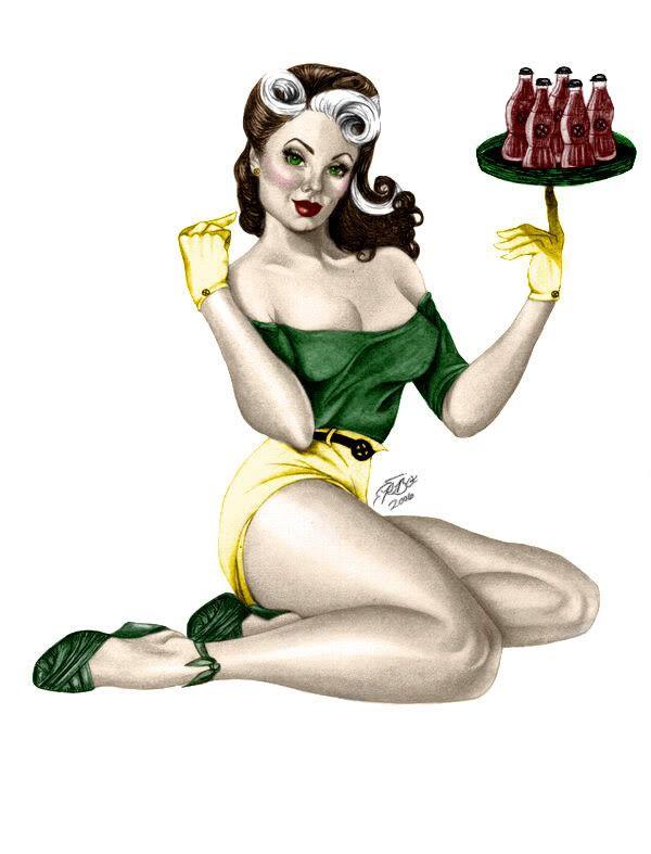 Rogue.  #1950s #Xmen #Rogue