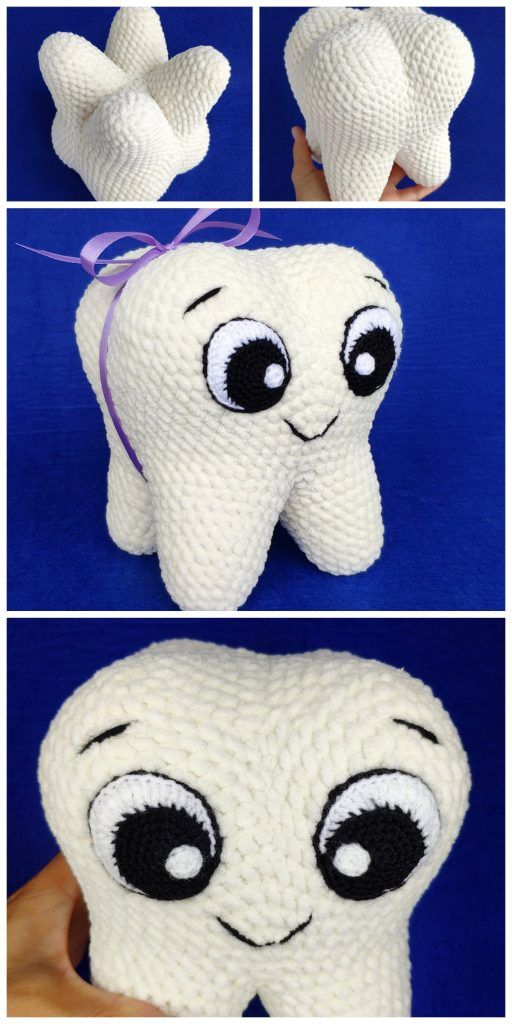 Amigurumi Tooth Smile Face Free Pattern – Free A…