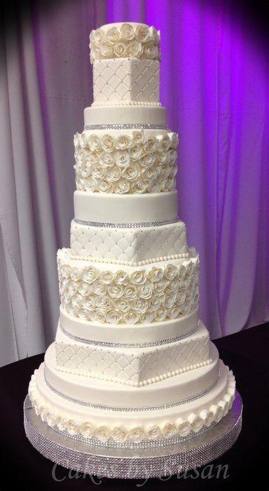 11 Tier Rosette Wedding Cake <3