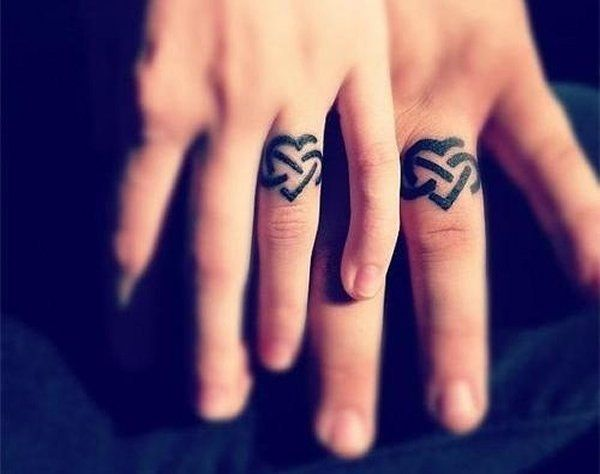 Love Infinity Finger Tattoo - People wear rings to signify the moment and status of marriage, or as a decoration, fashion statement. Similar to other placements, there are a lot more reasons to get a tattoo on finger for tattoo lovers. Finger tattoos are rendered in the style of simplicity and minimalism. They are cute while meaningful, esp. for girls and women.