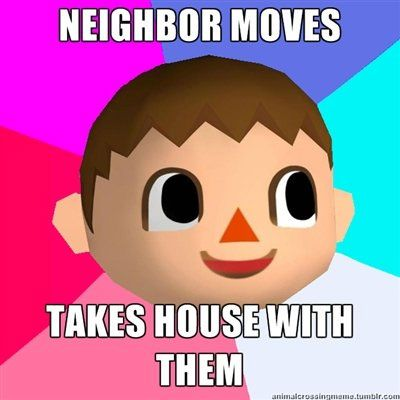 video game logic animal crossing. LOVE animal crossing but this, you're the only human in the town, and medicine cures everything!