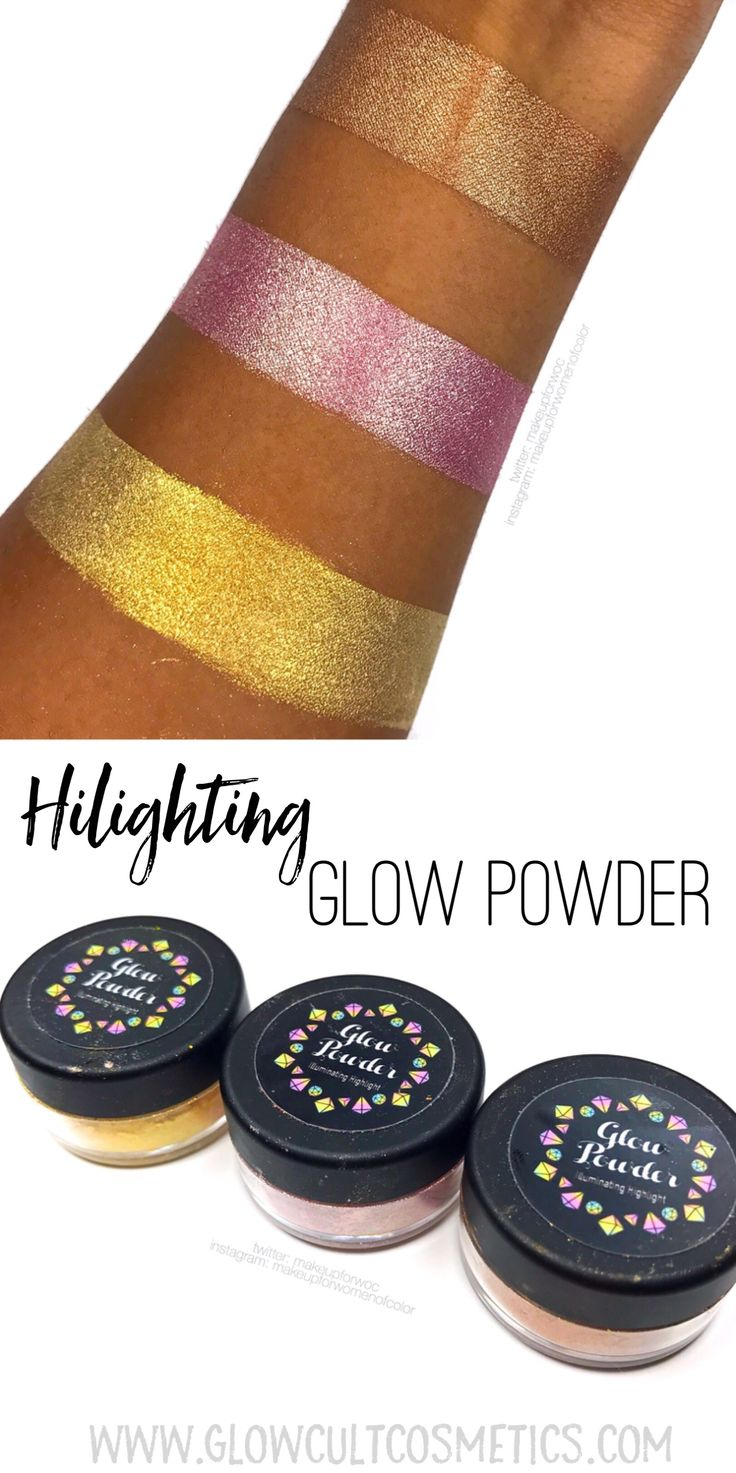 Highlight glow powder from www.glowcult.com #makeup #cosmetics #beauty #routine #skincare #hilight