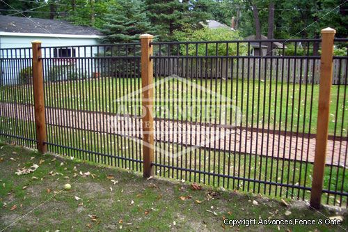 Aluminum Fences by Chicago Fence Contractor, Advanced Fence, servicing Chicago & Chicagoland Suburbs