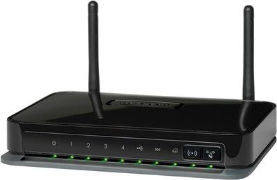 The NETGEAR N300 Wireless ADSL2+ Modem Router Router is ideal for both professional and personal Internet use, providing Wireless-N speed for simultaneous downloads, voice and music, and online gaming. Complete with a built-in DSL modem, it is compatible with all major DSL Internet service providers. Storage for downloads is easy with ReadySHARE™ for shared access to a USB storage device. Compare and buy online  at lowest price.