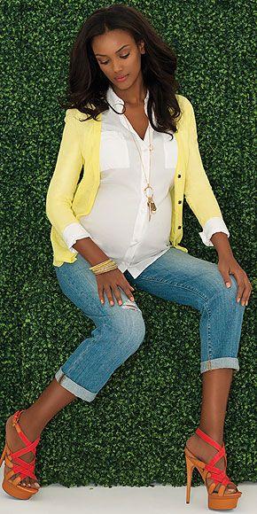 Spring Maternity Trends : People.com  Slimmer Boyfriend Jean!