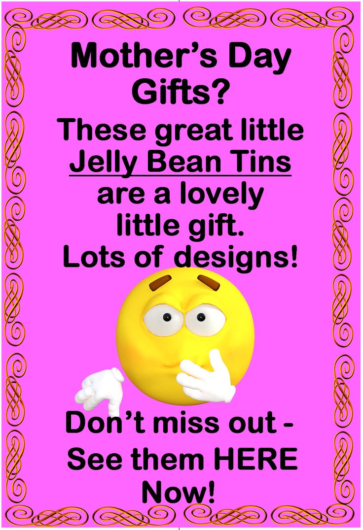 Jelly Bean Tins for Mother's Day Gifts.