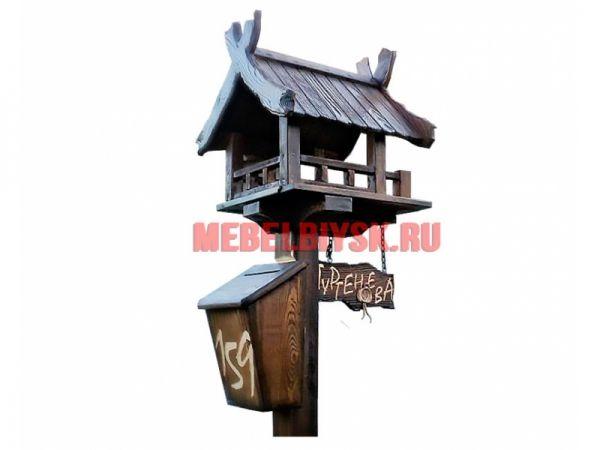 Почтовый ящик из дерева под старину