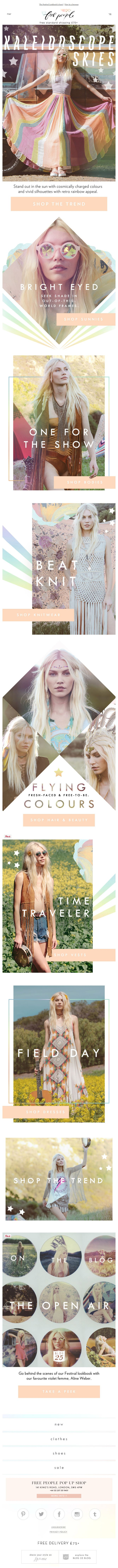 free people - festival email