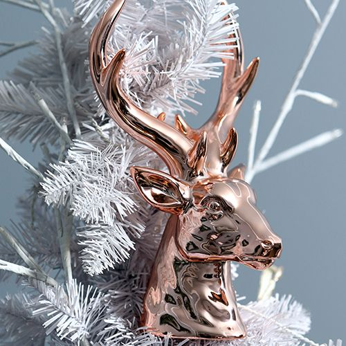 Pastels & Pearls Christmas Theme Deer Head Ornament
