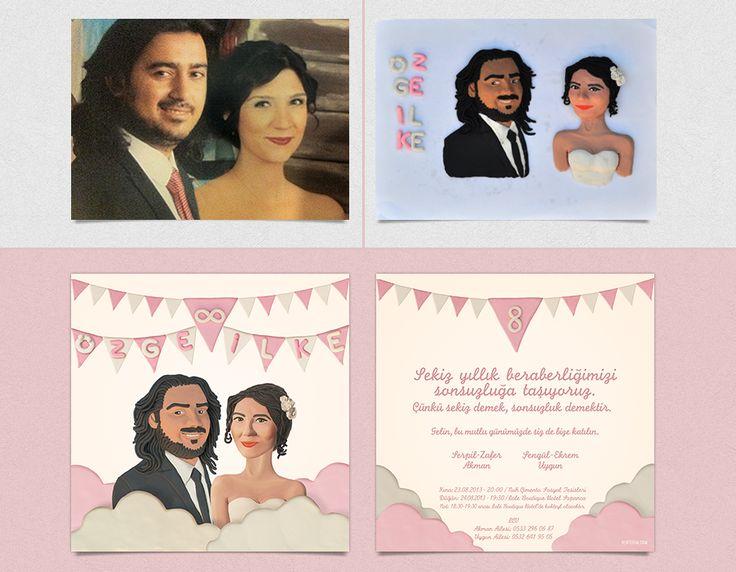 Özge ve İlke'ye özel olarak tasarladığımız davetiyemiz. #bentekim #bentekimdavetiye #davetiye #dugundavetiyesi #kisiyeozeldavetiye #ozeltasarimdavetiye #invitation #weddinginvitation #personalizedweddinginvitation #invitationdesign