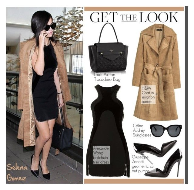 """""""Get the look: Selena Gomez"""" by helenevlacho ❤ liked on Polyvore featuring Alexander Wang, Louis Vuitton, H&M, GetTheLook, StreetStyle, selenagomez, CelebrityStyle and StreetChic"""