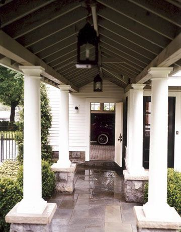 Where 39 s the chintz breezeway carriage house and brick for House plans with breezeway to guest house