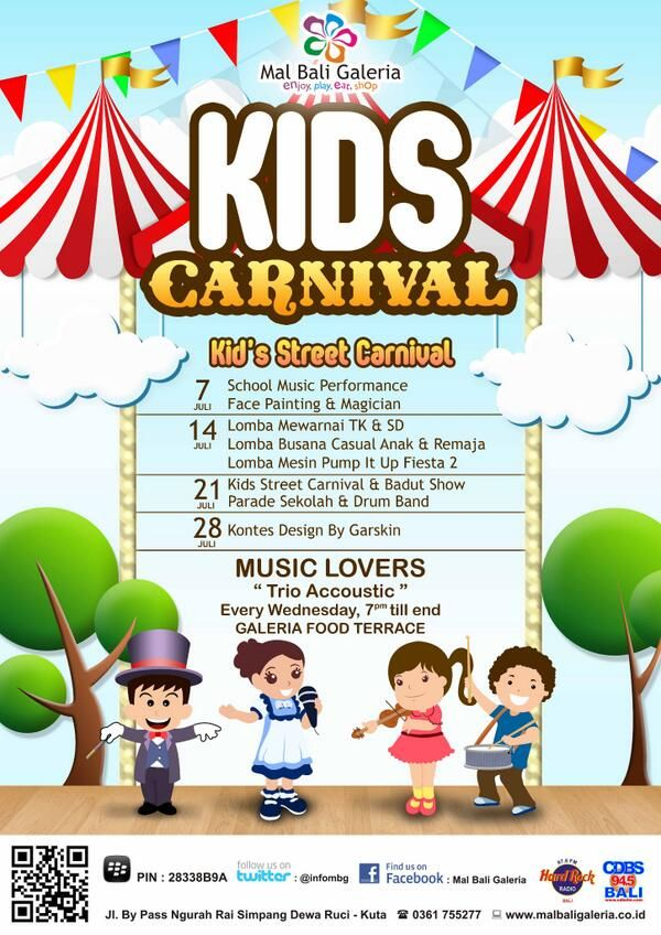 Kids Carnaval at Mal Bali Galeria from 7 july until 28 july 2013     www.travelling-bali.com