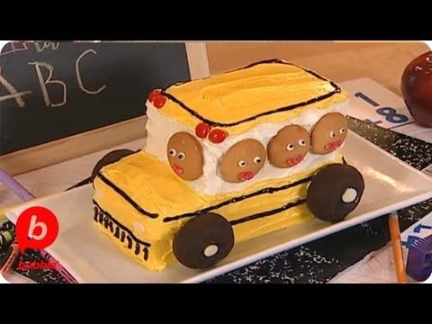 How to Make a Back-to-School Bus Cake | Food & Cooking | Babble - YouTube