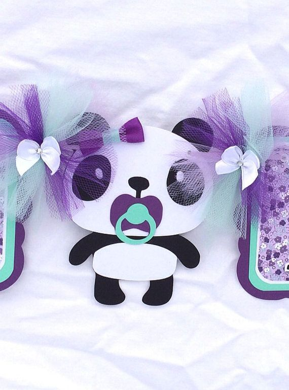 Panda baby shower banner its a girl  by NancysBannerBoutique