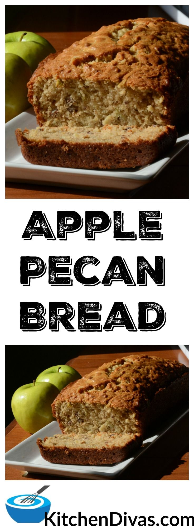My friend Marcel, who passed away earlier this year, surprised me with this loaf years ago. I was totally expecting banana bread and was pleasantly surprised and so impressed with this loaf that I have been making it ever since. This recipe for Apple Pecan Bread is a total keeper! #dessert #recipe #apple