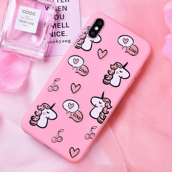 Cute Unicorn Animal Phone Case For