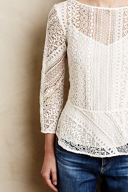 ethene lace blouse / anthropologie